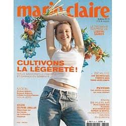 MARIE CLAIRE n°825 juin 2021  Cultivons la légèreté!/ Ludivine Sagnier/ Envie de plein air/ Olivier Norek/ Mode été/ Les Femmes d'Inter