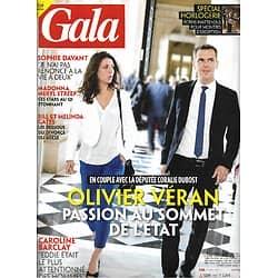 GALA n°1457 13/05/2021  Olivier Véran: passion au sommet de l'Etat/ Spécial horlogerie/ Caroline Barclay/ Bill & Melinda Gates/ Stars au QI étonnant
