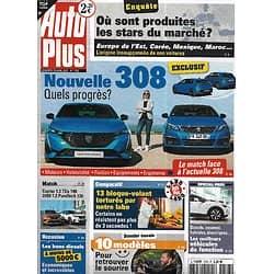 AUTO PLUS n°1703 23/04/2021  Nouvelle Peugeot 308/ Origine des stars du marché/ Renault Captur vs Peugeot 2008/ 10 voitures plaisir