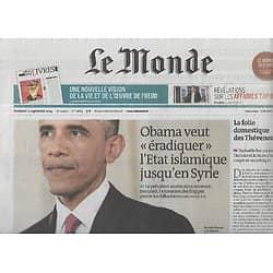 LE MONDE n°21664 12/09/2014  Le combat d'Obama contre l'Etat islamique/ La chute des Thévenoud/ Les affaires Tapie/ Freud à neuf