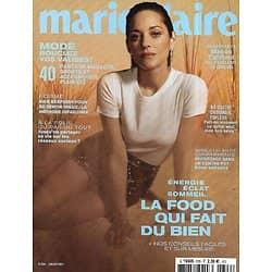 MARIE CLAIRE (pocket) n°826 juillet 2021  Marion Cotillard l'enchanteuse/ La food qui fait du bien/ Mode spécial été/ Gloria Kabe, reine de la cuisine afro-végane