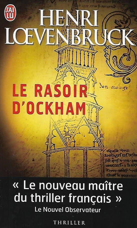 """Le rasoir d'Ockham"" Henri Loevenbruck/ Très bon état/ Livre poche"