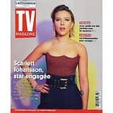 """TV MAGAZINE 11/07/2021 n°1797  Scarlett Johansson, star engagée/ Julian Bugier/ """"Most Wanted Criminals""""/ Voyager high-tech"""