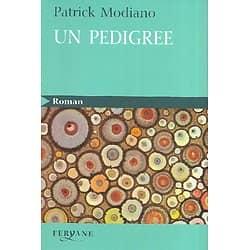 """""""Un Pedigree"""" Patrick Modiano/ Très bon état/ Gros caractères/ Livre broché"""