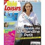"""TELE LOISIRS n°1847 24/07/2021  Amandine Petit, Miss France/ Jennifer Lauret/ """"Les Bronzés""""/ Spécial été/ """"Maléfique"""""""