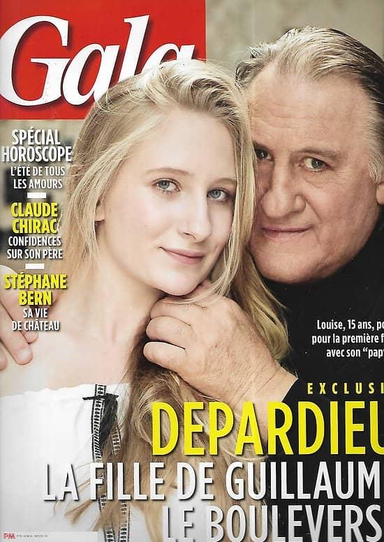 Gala n°1203 29/06/2016  Gérard Depardieu & Louise/ Claude Chirac/ Stéphane Bern/ Charlène de Monaco/ John Casablancas/ Charlotte Gainsbourg