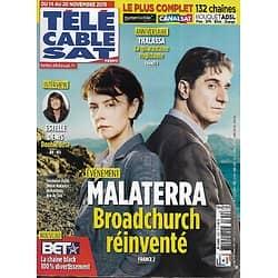 """Télé Cable Sat n°1332 14/11/2015  """"Malaterra"""" Broadchurch réinventé/ Estelle denis/ """"Thalassa"""" 40 ans"""