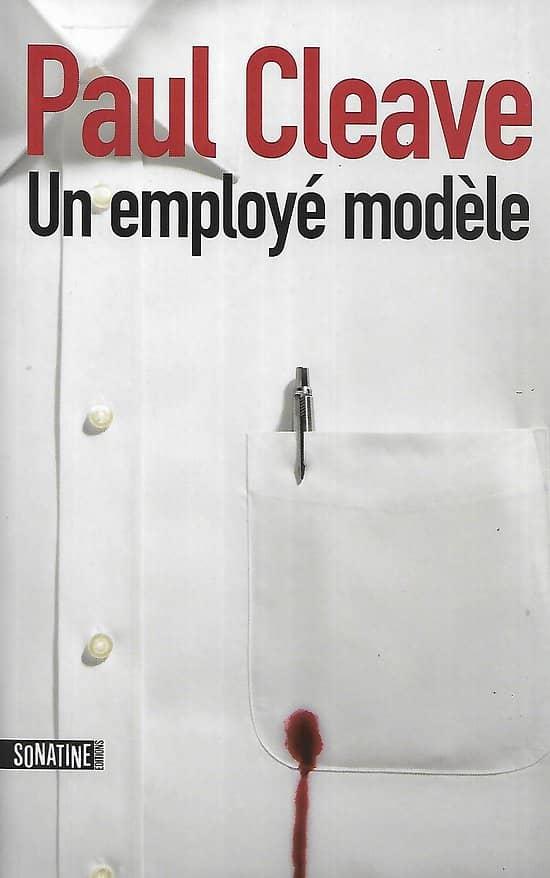 """""""Un employé modèle"""" Paul Cleave/ Très bon état/ Livre grand format"""
