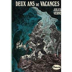 """""""Deux ans de vacances"""" Jules Verne/ Galaxie-Hachette/ 1974/ Bon état/ Livre relié"""