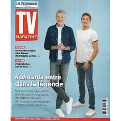 "TV MAGAZINE 22/08/2021 n°1803  ""Koh-Lanta"" entre dans la légende/ Denis Brogniart & Claude Dartois/ Collector"