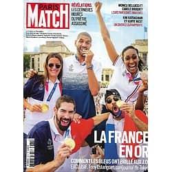 """PARIS MATCH n°3771 12/08/2021  JO Tokyo: la France en or/ Carole Bouquet & Monica Bellucci/ """"Koh-Lanta"""" 20 ans d'exploits/ Kim Kardashian & Kanye West/ Brigitte Bardot"""