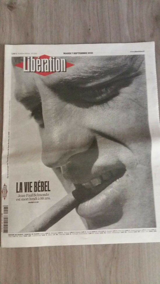 LIBERATION n°12511 07/09/2021   La vie Bébel-hommage à Jean-Paul Belmondo/ Collector
