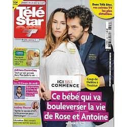 """TELE STAR n°2343 28/08/2021  """"Ici tout commence"""" Vanessa Demouy & Frédéric Diefenthal/ """"L'amour est dans le pré""""/ Audrey Fleurot/ LeÏla Bekhti/ Coluche"""