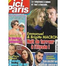 ICI PARIS n°3937 16/12/2020  Emmanuel & Brigitte Macron/ Laurent Ournac/ Jean-Pierre Pernaut/ Laeticia Hallyday & Jalil Lespert