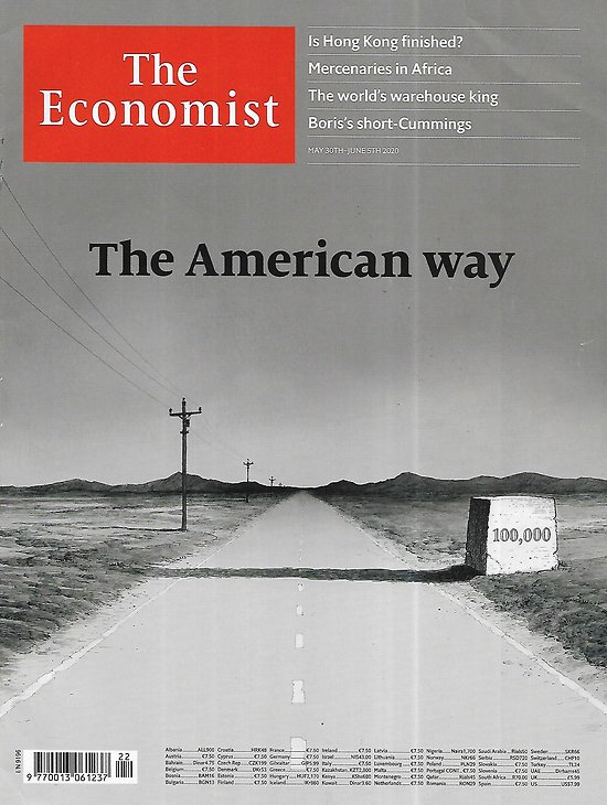 THE ECONOMIST Vol.435 n°9196 30/05/2020  Pandemic: The American way/ Is Honk Kong finished?/ Mercenaries in Africa/ US cyber-defence/ Covid-19 and face masks