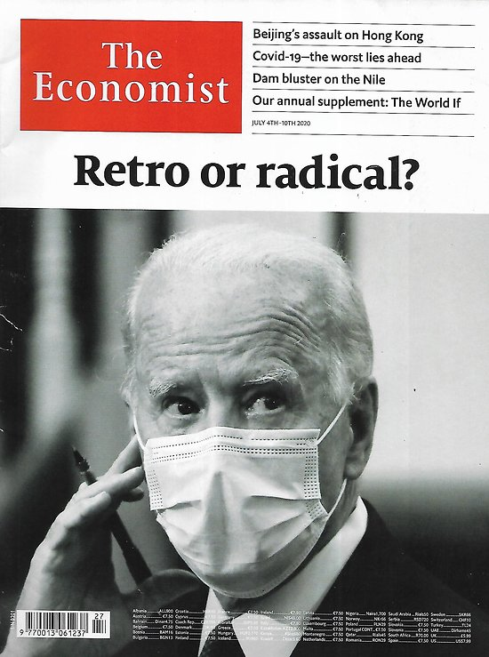THE ECONOMIST Vol.436 n°9201  Retro or radical? Joe Biden and his policy platform/ The world if: scenarios of different climate futures