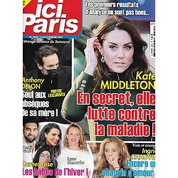 """ICI PARIS n°3944 03/02/2021  Kate Middleton/ Anthony Delon/ Ingrid Chauvin/ Carnet rose/ Mylène Demongeot/ """"L'amour est dans le pré"""""""