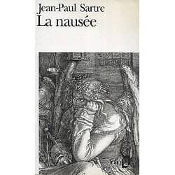 """""""La nausée"""" Jean-Paul Sartre/ Folio/ 1992/ Bon état d'usage/ Livre poche"""