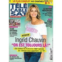 """Télé Cable Sat n°1631 07/08/2021  Ingrid Chauvin """"Demain nous appartient"""" le 100è épisode/ Eliud Kipchoge/ Robin Williams/ Van Damme"""