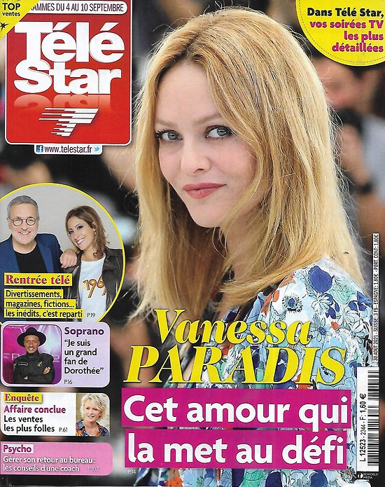 TELE STAR n°2344 04/09/2021  Vanessa Paradis, double retour/ Soprano/ Hugh Jackman/ Hemingway/ Odile Vuillemin/ Lionel Messi