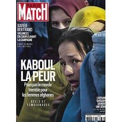 PARIS MATCH n°3772 19/08/2021  Kaboul: la peur/ Lionel Messi à Paris/ Prince Andrew, la chute/ L'affaire Grégory...en série/ Estelle Lefébure