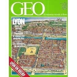 GEO n°57 novembre 1983  Lyon livre ses secrets + carte/ Climatologie: El Nino/ Le tweed écossais/ Les Bororo du Niger