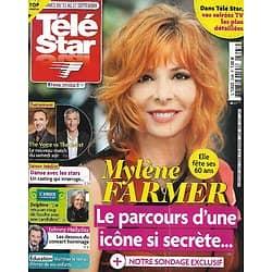 "TELE STAR n°2345 11/09/2021  Mylène Farmer/ ""The Voice"" vs ""The Artist""/ Johnny Hallyday/ Virginie Efira"