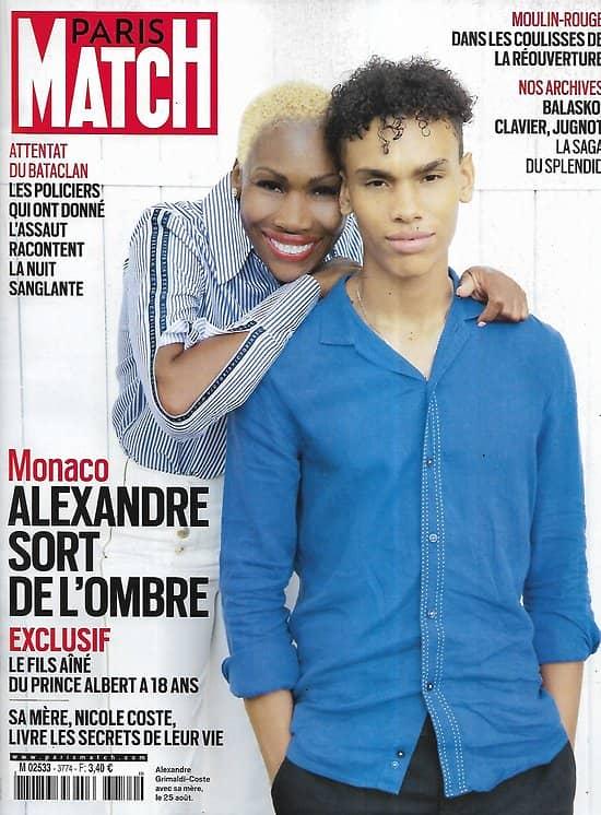 PARIS MATCH n°3774 02/09/2021  Monaco: Le fils d'Albert/ Les héros du Bataclan/ Talibans: la terreur/ Le Moulin Rouge/ Pierre Niney
