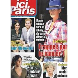 ICI PARIS n°3853 08/05/2019  Laeticia Hallyday/ Harry & Meghan/ Laëtitia Milot/ Anémone/ Patrick Bruel/ Dick Rivers