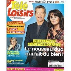 """TELE LOISIRS n°1855 18/09/2021  Michel Cymes & Faustine Bollaert/ Jean-Paul Belmondo/ DALS/ """"Une affaire française/ """"La casa de papel"""""""