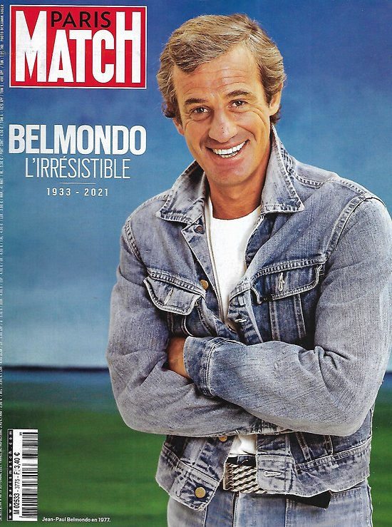 PARIS MATCH n°3775 09/09/2021    Jean-Paul Belmondo, l'irrésistible, 1933-2021