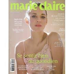 MARIE CLAIRE n°802 juin 2019  Marion Cotillard/ Se sentir bien au quotidien/ Ecologie/ Spécial couple
