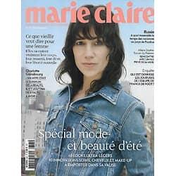 MARIE CLAIRE n°803 juillet 2019  Charlotte Gainsbourg/ Spécial mode & beauté d'été/ Affaire Toscan du Plantier