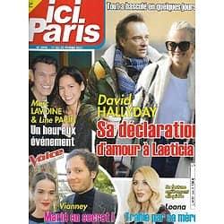 ICI PARIS n°3946 17/02/2021  David Hallyday/ Vianney/ Marc Lavoine & Line Papin/ Loana/ Julien Clerc/ Robert Hossein/ Charles Trenet/ Miss France, Amandine Petit/ Marilyn Monroe