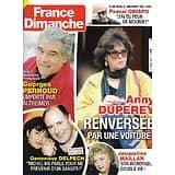 FRANCE DIMANCHE n°3881 15/01/2021  Anny Duperey/ Georges Pernoud/ Geneviève Delpech/ Jacqueline Maillan/ Pascal Obispo/ Les restos du coeur