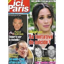 ICI PARIS n°3949 10/03/2021  Meghan Markle/ Patrick Dupond/ Annie Girardot & Mitterrand/ Jean-Pierre Pernaut/ Burt Lancaster/ Prince Charles