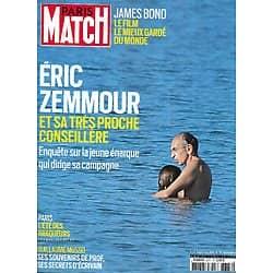 PARIS MATCH n°3777 23/09/2021  Eric Zemmour et sa très proche conseillère/ Daniel Craig, dernier James Bond en Jamaïque/ Guillaume Musso dévoile ses mystères/ Paris: l'été des braqueurs