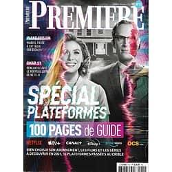 PREMIERE n°14H janv.-fév.2021  Spécial plateformes VOD: 100 pages de guide/ Wandavision/ Omar Sy/ Netflix/ Apple Tv/ OCS/ Amazon Primevideo/ Disney +