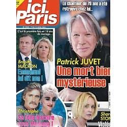 ICI PARIS n°3953 07/04/2021  Patrick Juvet/ Brigitte Macron/ Christophe & Madonna/ Sharon Stone/ Loft Story/ Stars 80