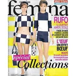 VERSION FEMINA n°563 14/01/2013  Spécial Collections/ Fabrice Luchini & Lambert Wilson/ Marcel Rufo: enfants & problèmes de scolarité