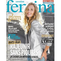 VERSION FEMINA N°565 28/01/2013  Rajeunir sans piqûres/ Anthony Hopkins/ Se loger à New York/ Mode glam
