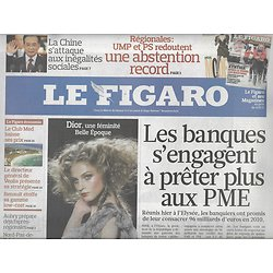 LE FIGARO N°20402 6 MARS 2010  BANQUES&PME/ GRECE/ DEFILES MODE/ AUBRY/ ARCTIQUE