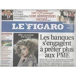 LE FIGARO N°20402 6 MARS 2010  BANQUES&PME/ GRECE/ DEFILES MODE/ AUBRY/ ARCTIQUE