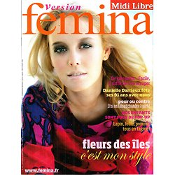 VERSION FEMINA N°318 4 MAI 2008  MODE FLEURS/ DARRIEUX/ JOLIS PIEDS/ TAGINE/ MAL AU DOS