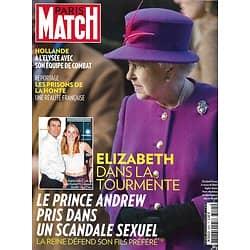 PARIS MATCH n°3425 08/01/2015  Elizabeth II-Prince Andrew/ Prisons/ François Hollande/ Véronic Dicaire/ Gorilles en danger