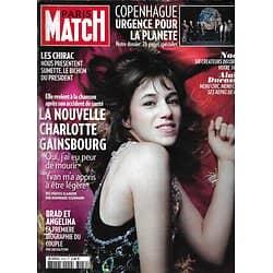PARIS MATCH n°3159 03/12/2009  Charlotte Gainsbourg/ Brad Pitt & Angelina Jolie/ Climat, sommet de Copenhague/ Chirac