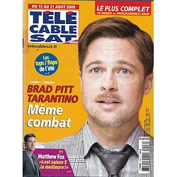 Télé Cable Sat n°1006 10/08/2009   Brad Pitt/ Matthew Fox/ Lavillenie/ Panda