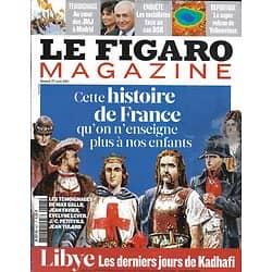 LE FIGARO MAGAZINE n°20860 27/08/2011  Histoire de France/ Yellowstone/ Normandie/ DSK/ Rentrée littéraire