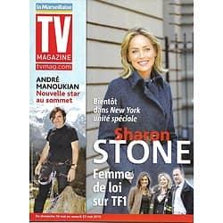 TV MAGAZINE n°20462 15/05/2010  Sharon Stone, Hargitay & Meloni/ André Manoukian