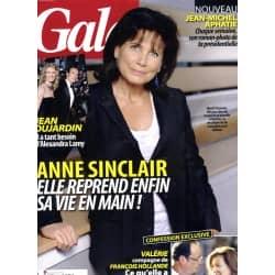 GALA n°972 25/01/2012  Anne Sinclair/ Jean Dujardin & Alexandra Lamy/ Valérie Trierweiler/ Elodie Navarre